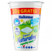Bakoma Sp. z o. o. JOGURT NATURALNY ŁAGODNY 1,5% 150G BAKOMA