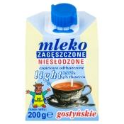Spółdzielnia Mleczarska w Gostyniu MLEKO ZAGĘSZCZONE LIGHT 200G GOSTYŃ