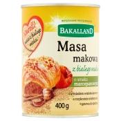 MASA MAKOWA  BIAŁA 400G BAKALLAND