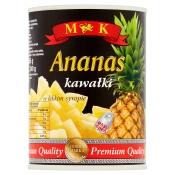 KONSHURT Spółka z ograniczoną odpowiedzialnością Sp. k. ANANAS KAWAŁKI W LEKKIM SYROPIE 565G M&K