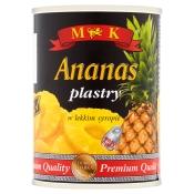 ANANAS PLASTRY W SYROPIE 565G M&K