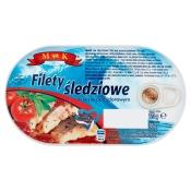 FISH FOOD Sp. z o.o. FILETY ŚLEDZIOWE W SOSIE POMIDOROWYM 170G