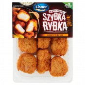 Lisner Poznań sp. z o.o. sp. k. NUGGETSY Z MINTAJA  SZYBKA RYBKA 125G LISNER