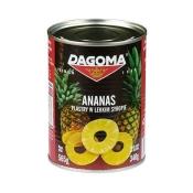 Dagoma  Sp. z o.o. DAGOMA ANANAS PLASTRY W LEKKIM SYROPIE 565G
